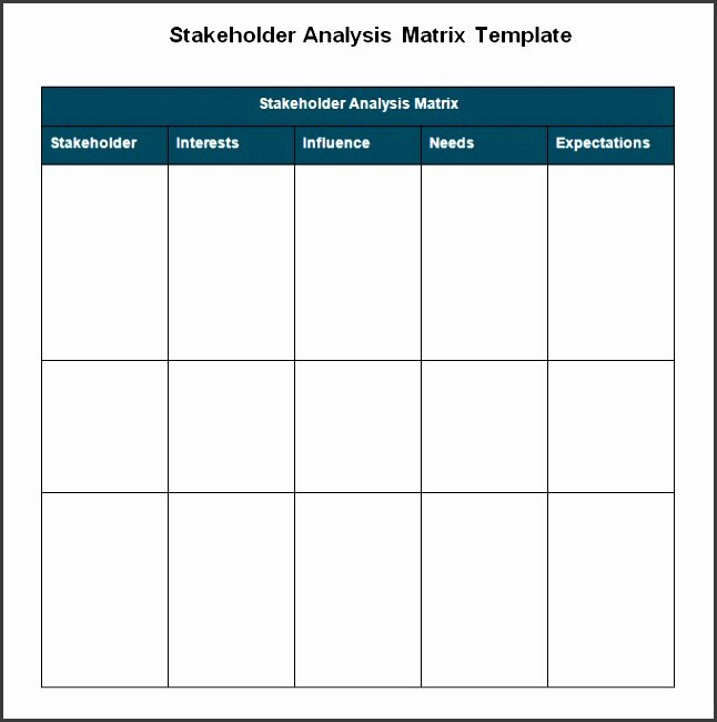 Stakeholder Analysis Template Excel Fresh 7 Sample Stakeholder Analysis Template Sampletemplatess