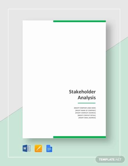 Stakeholder Analysis Template Excel Luxury Free 10 Stakeholder Analysis Samples In Google Docs