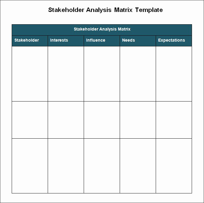Stakeholder Analysis Template Excel Luxury Stakeholder Analysis Template