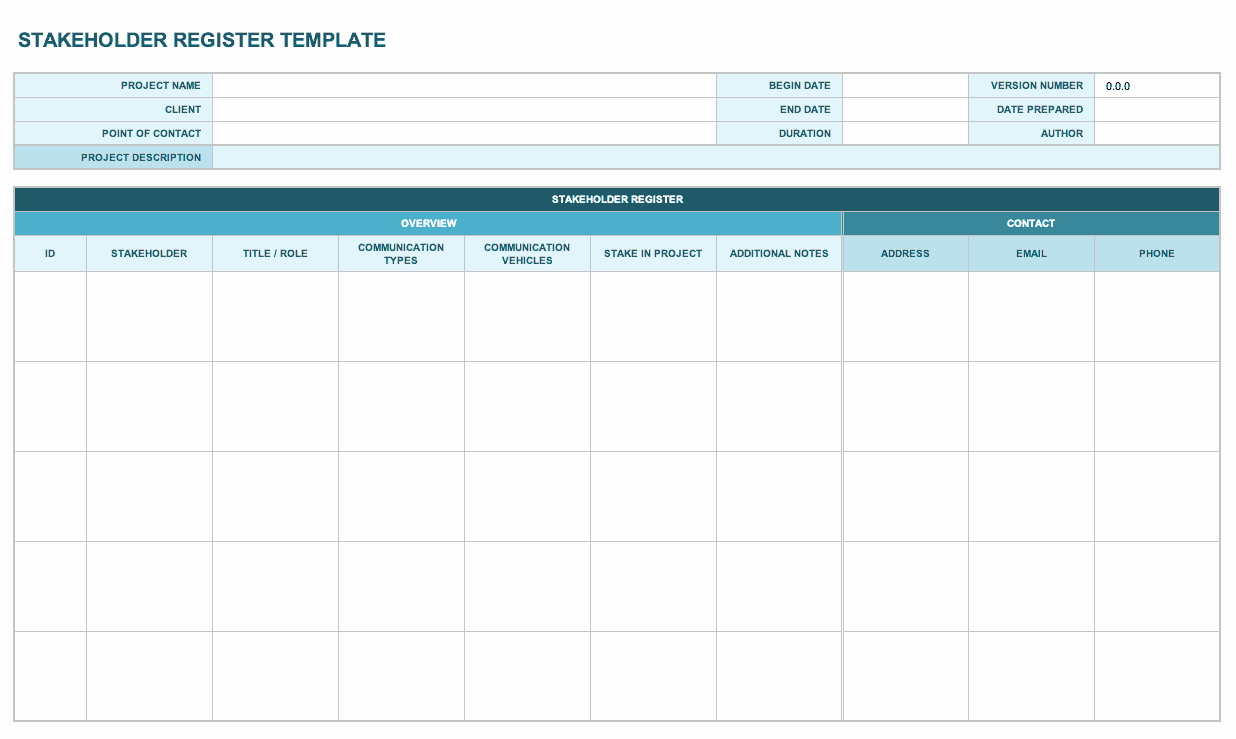 Stakeholder Analysis Template Excel New Free Stakeholder Analysis Templates Smartsheet