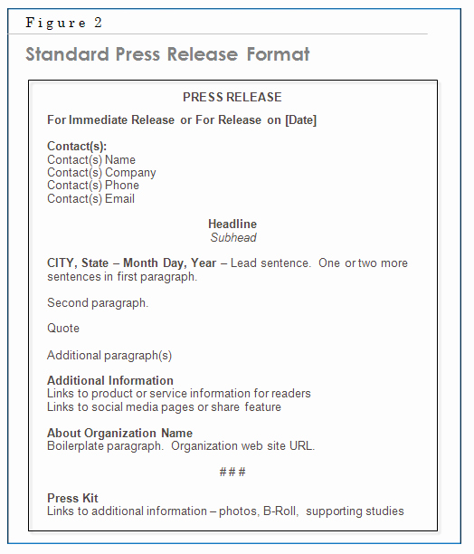 Standard Media Release form Template New Chapter 6 – the Press Release Matthews On Marketing