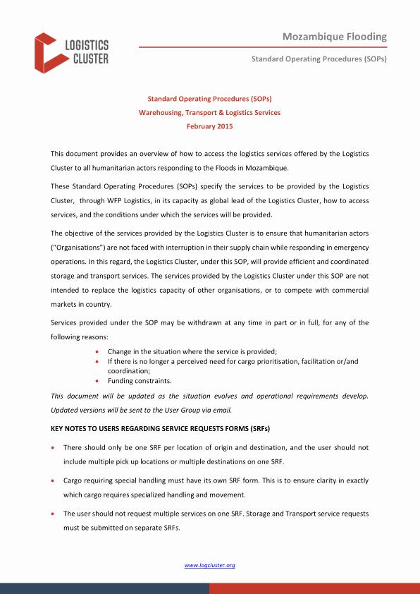 Standard Operating Procedures Manual Template Fresh Standard Operating Procedures sops Warehousing