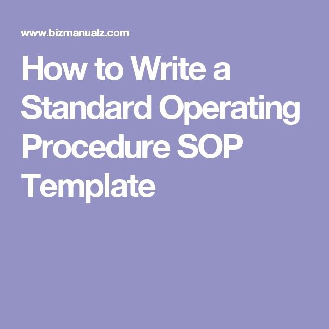 Standard Operating Procedures Manual Template Inspirational Best 25 Standard Operating Procedure Ideas On Pinterest