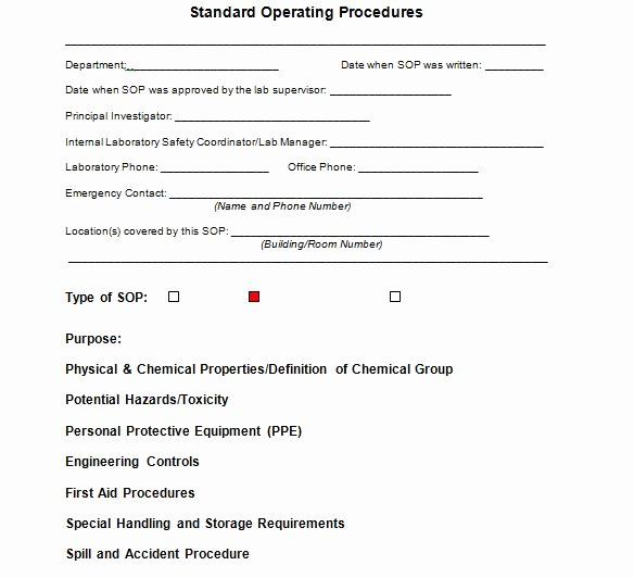 Standard Operating Procedures Manual Template Unique 37 Best Standard Operating Procedure sop Templates