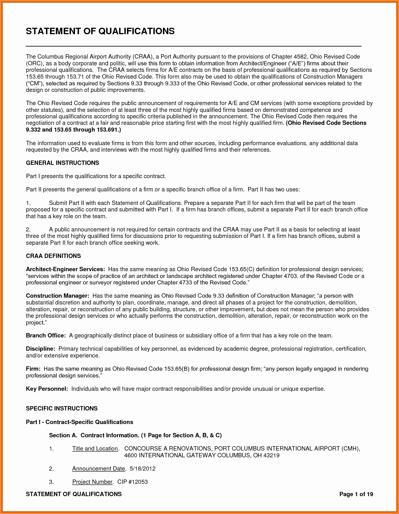 Statement Of Qualifications Template Free Awesome 6 Statement Of Qualifications Template