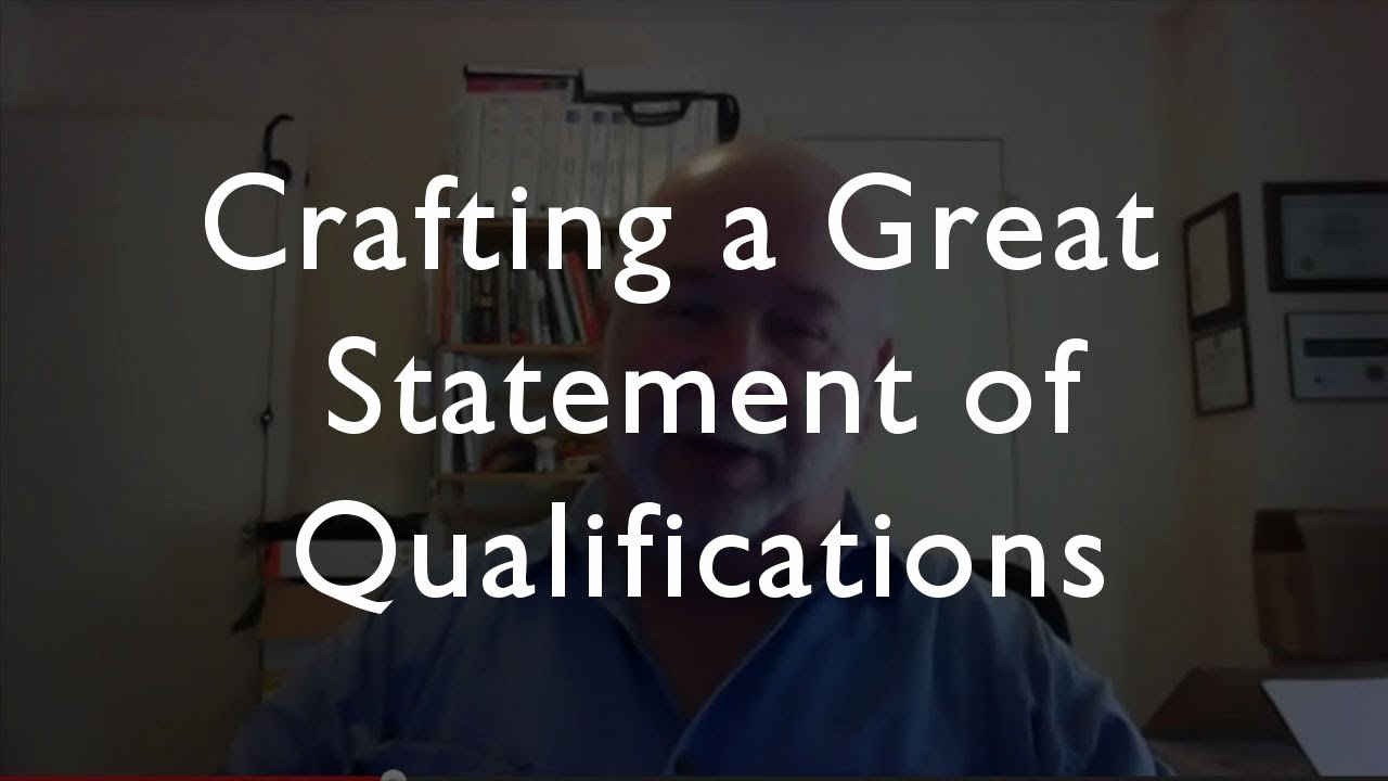 Statement Of Qualifications Template Free Inspirational How to Write A Great Statement Of Qualifications