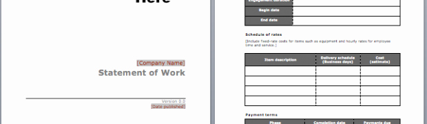 Statement Of Work Template Word Beautiful Ms Word Statement ← Microsoft Word Templates