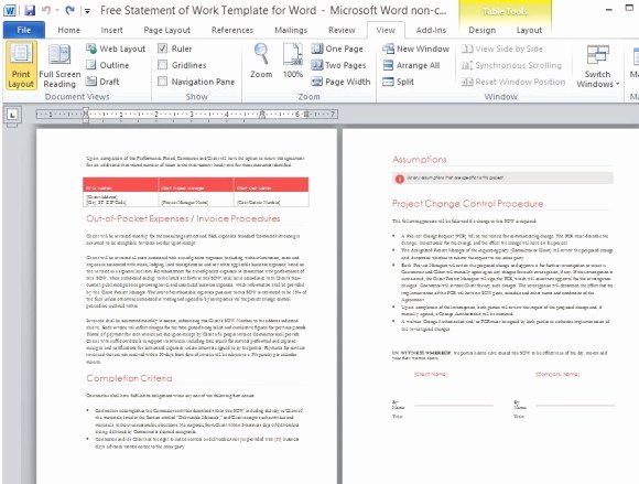 Statement Of Work Word Template Beautiful Free Statement Work Template for Word