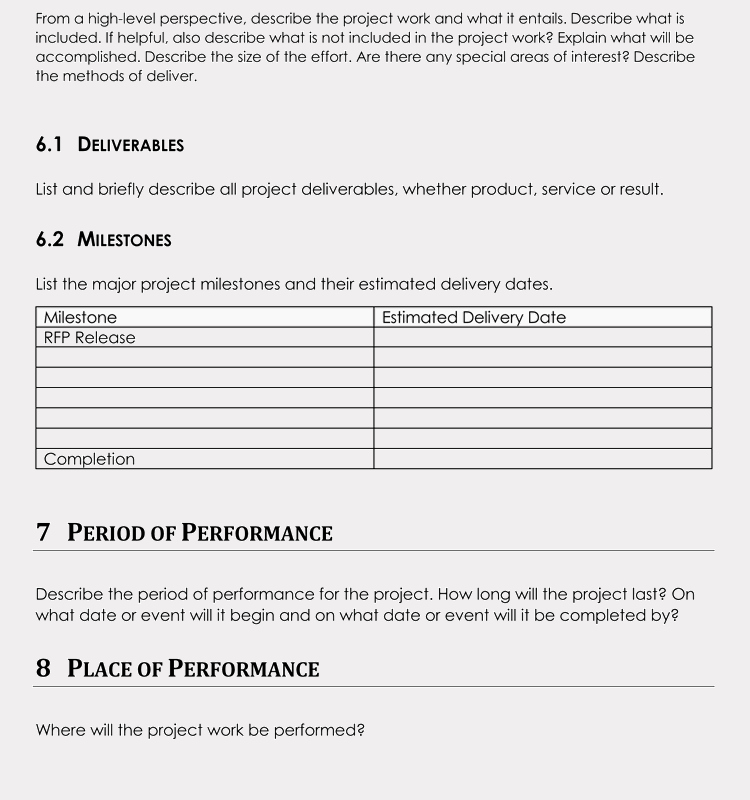 Statement Of Work Word Template New 20 Statement Of Work Templates Excel Word Write Pro sow