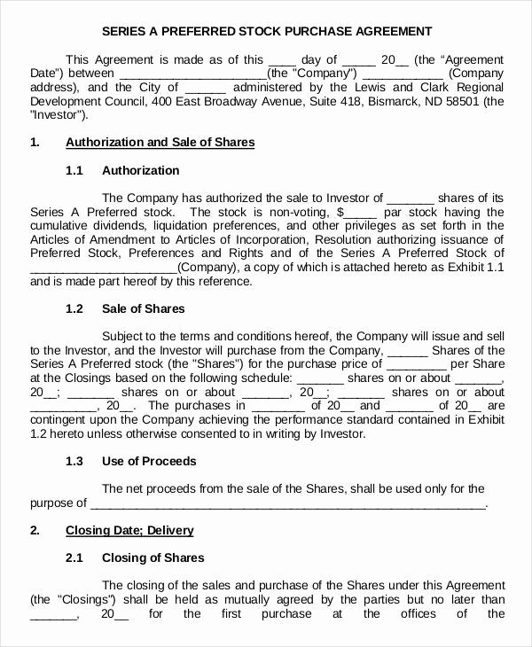 Stock Purchase Agreement Template Best Of 11 Stock Purchase Agreement form Samples Free Sample