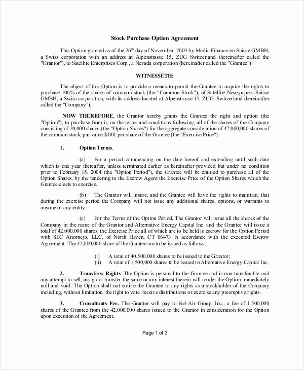 Stock Purchase Agreement Template New 11 Stock Purchase Agreement form Samples Free Sample