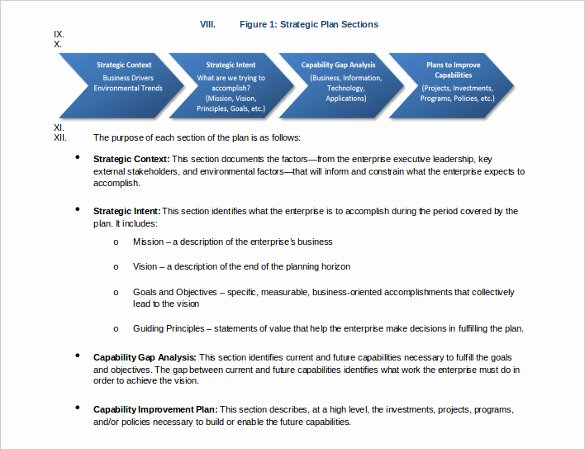 Strategic Plan Template Free Best Of Strategic Plan Example