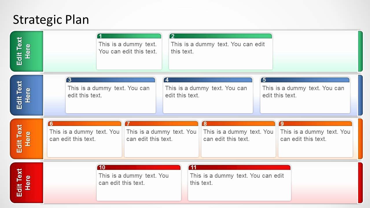 Strategic Plan Template Free Elegant Basic Strategic Plan Template for Powerpoint Slidemodel