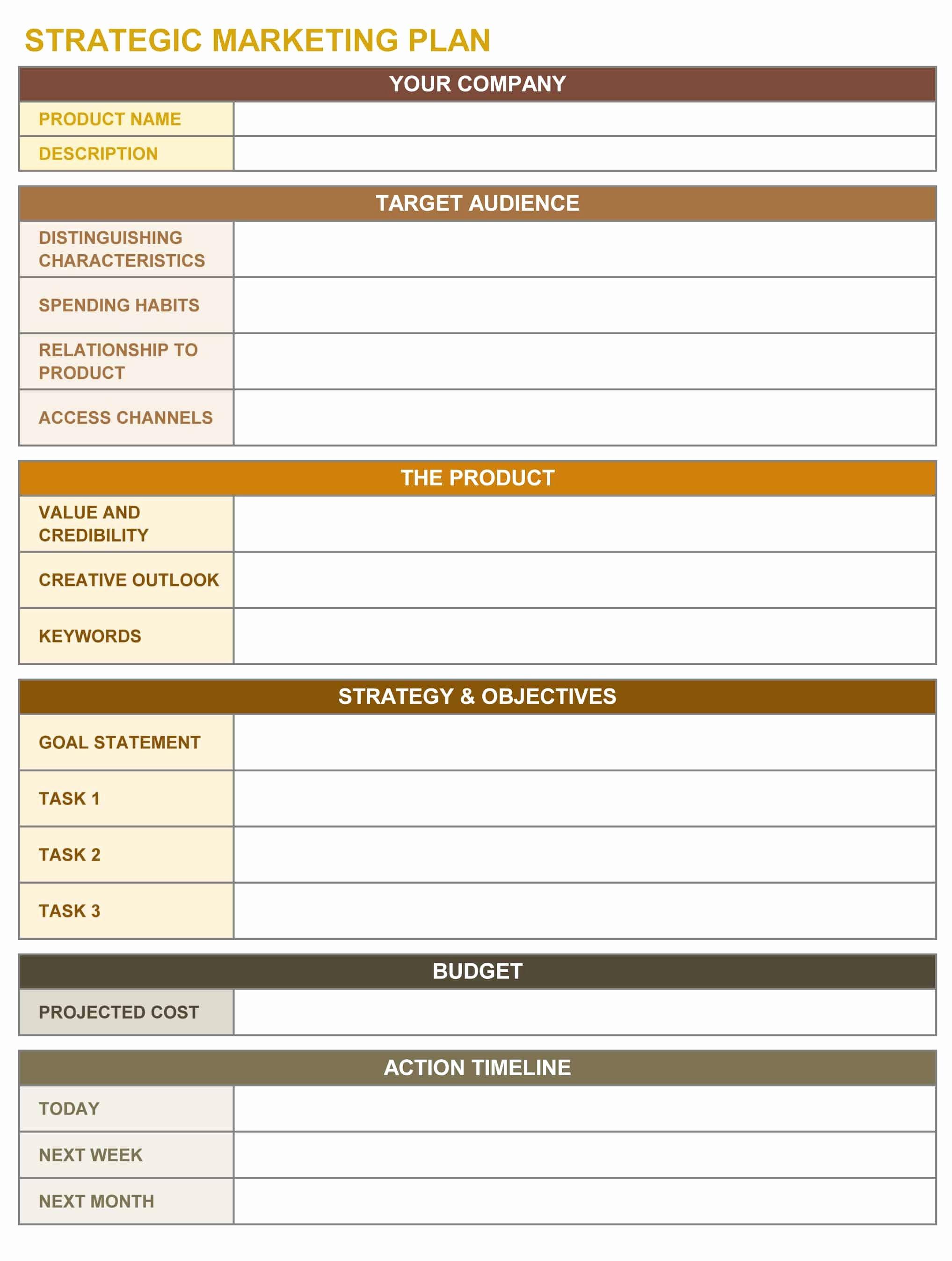 Strategic Plan Template Free Lovely 9 Free Strategic Planning Templates Smartsheet