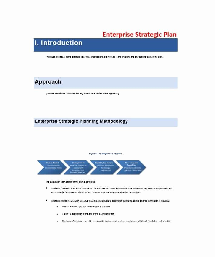 Strategic Plan Template Free Unique 32 Great Strategic Plan Templates to Grow Your Business