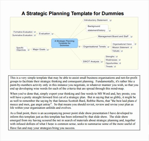 Strategic Planning Template Free Lovely Sample Strategic Plan Template 25 Free Documents In Pdf