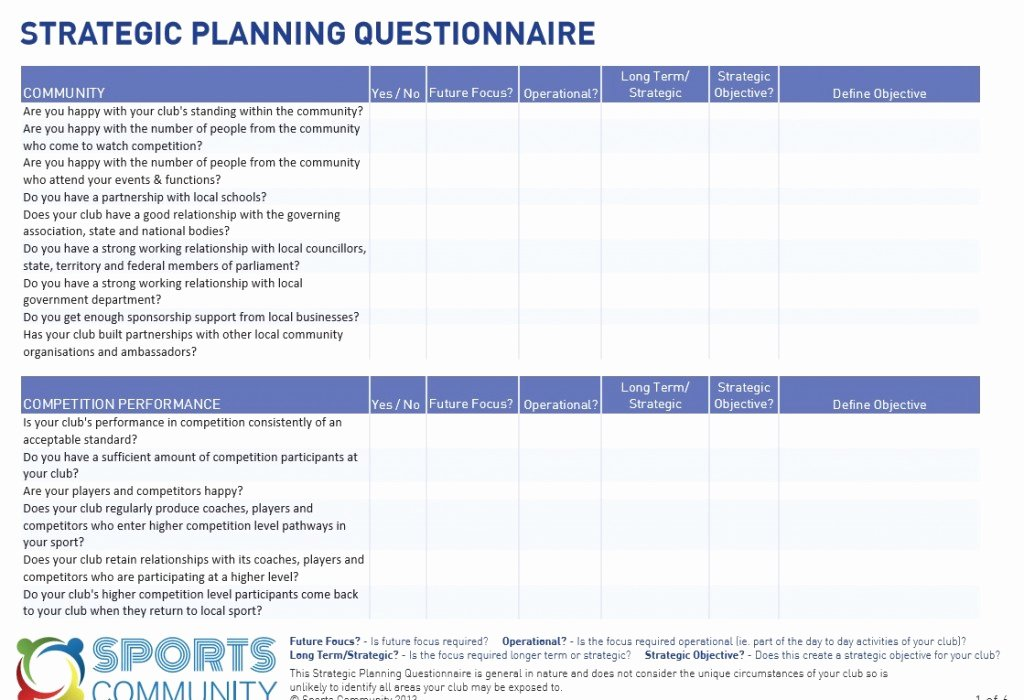 Strategic Planning Template Free New Strategic Planning Template