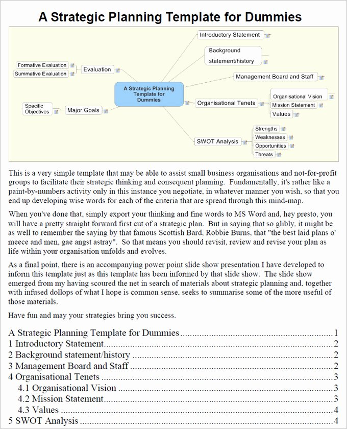 Strategic Planning Template Word Beautiful It Strategy Plan Template 5 Free Word Pdf format