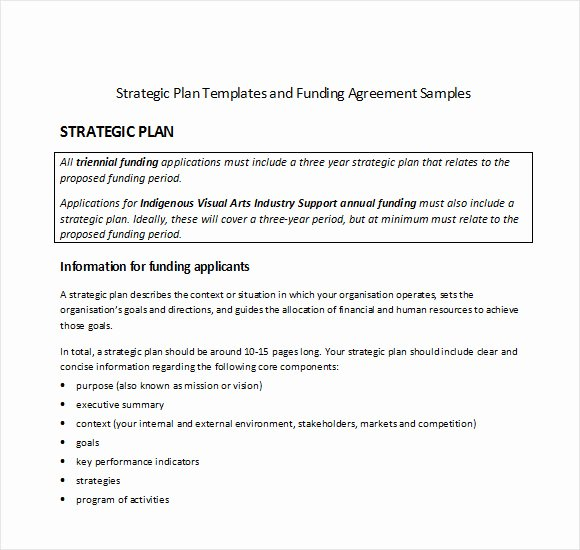 Strategic Planning Template Word Elegant Sample Strategic Plan Template 25 Free Documents In Pdf