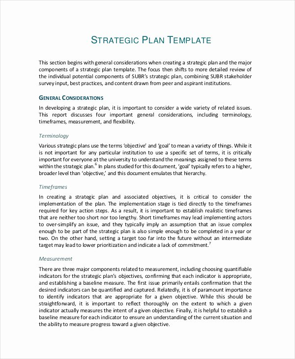 Strategic Sales Planning Template Elegant Simple Strategic Plan Sample