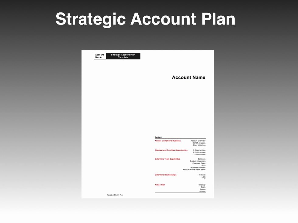 Strategic Sales Planning Template Lovely Strategic Account Plan Template Four Quadrant Go to