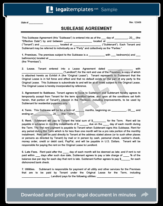 Sublease Agreement Template Word Best Of Create A Sublease Agreement