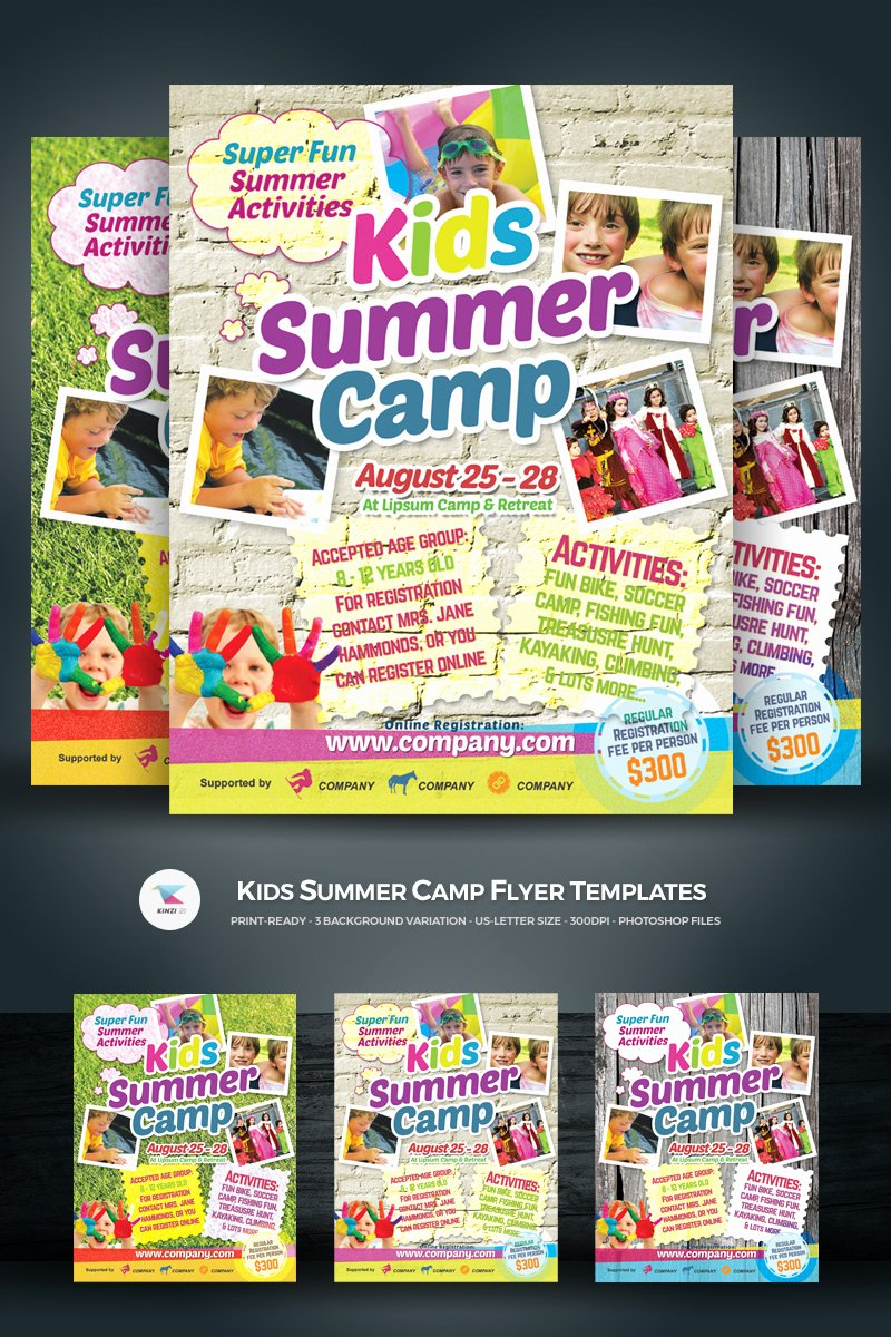 Summer Camp Flyer Template Free Awesome Kids Summer Camp Flyer Corporate Identity Template