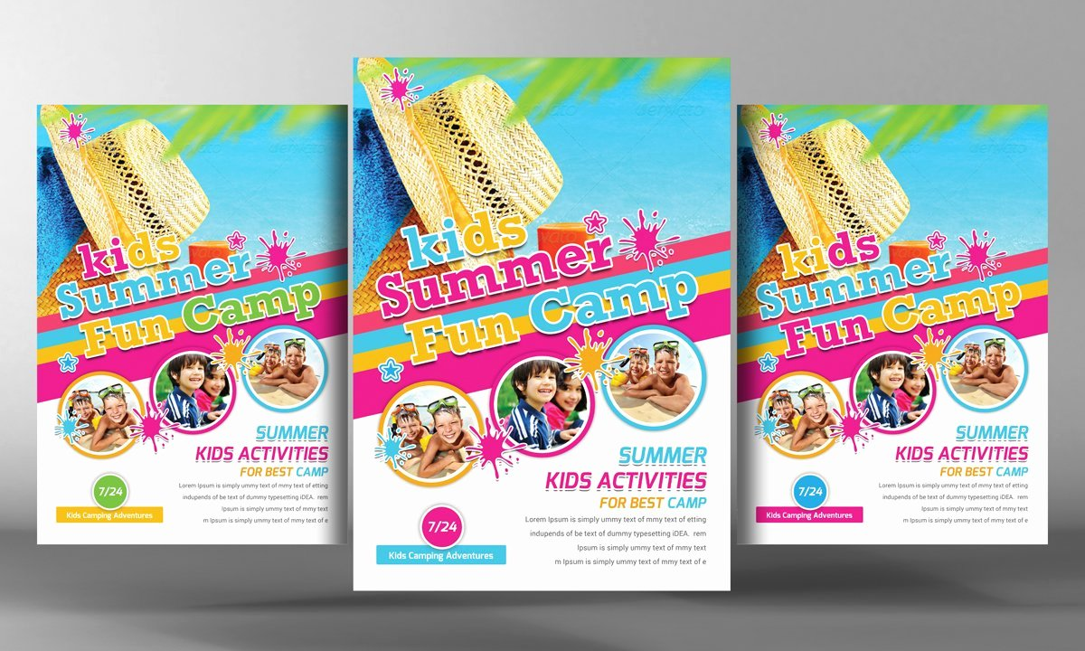 Summer Camp Flyer Template Free Awesome Kids Summer Camp Flyer Template Flyer Templates