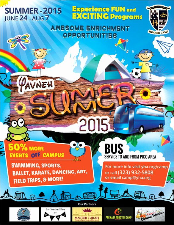 Summer Camp Flyer Template Free Beautiful 26 Summer Camp Flyer Templates Word Psd Ai Eps Vector
