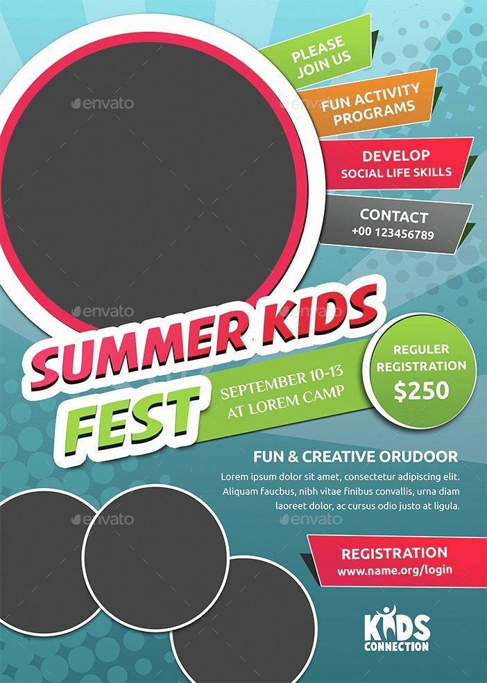 Summer Camp Flyer Template Free Beautiful Kids Summer Camp Flyer by Jpixel55
