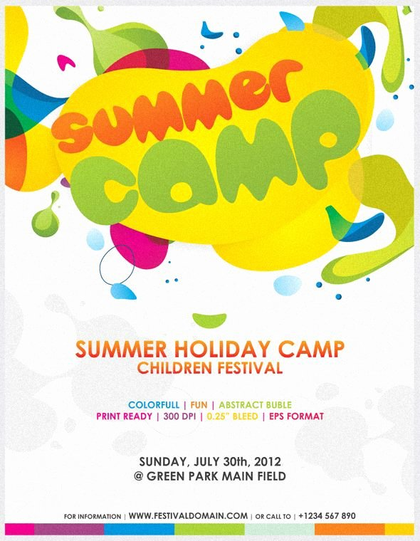 Summer Camp Flyer Template Free Best Of Fun Day Flyer Template Invitation Templates