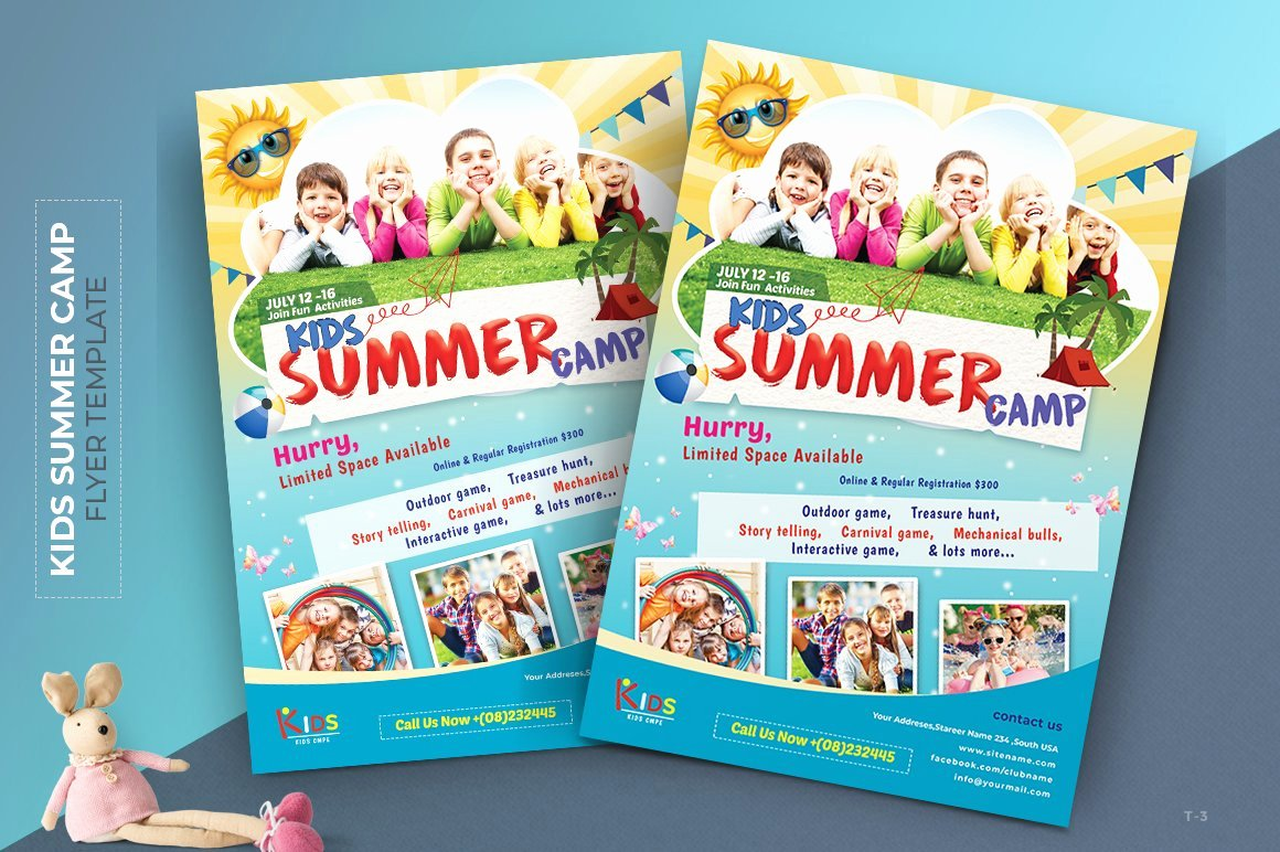 Summer Camp Flyer Template Free Best Of Kids Summer Camp Flyer Flyer Templates Creative Market