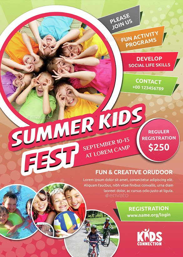 Summer Camp Flyer Template Free Elegant 17 Summer Camp Flyer Templates Word Psd Ai Eps Vector