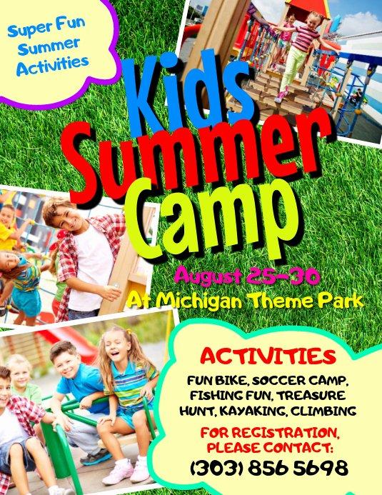 Summer Camp Flyer Template Free Elegant Kids Summer Camp Flyer Template