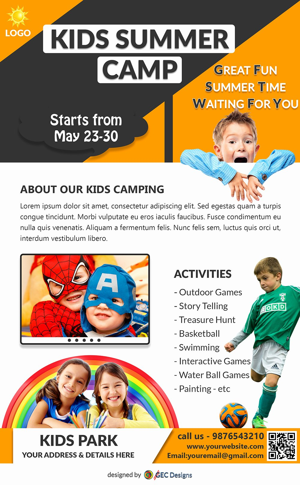 Summer Camp Flyer Template Free Fresh Download Free Sporty Fun Kids Summer Camp Flyer Design