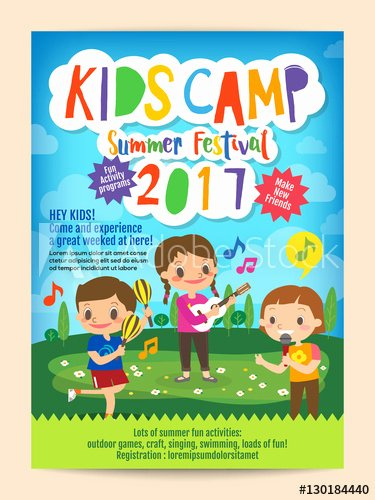 Summer Camp Flyer Template Free Fresh Kids Summer Camp Education Advertising Poster Flyer