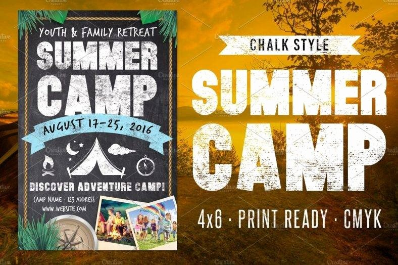 Summer Camp Flyer Template Free Inspirational 10 Retreat Flyer Designs & Templates Psd Ai