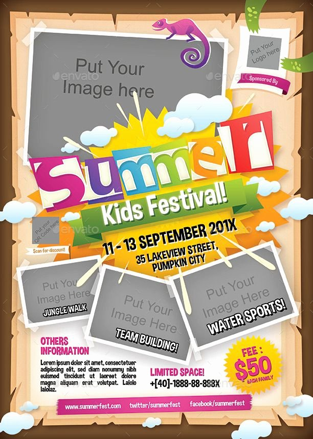 Summer Camp Flyer Template Free Lovely Flyer Templates Designed Exclusively for Summer Camps