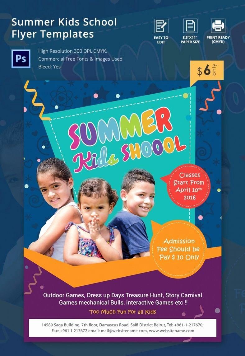 Summer Camp Flyer Template Free Lovely Summer Camp Flyer Template – 41 Free Jpg Psd Esi