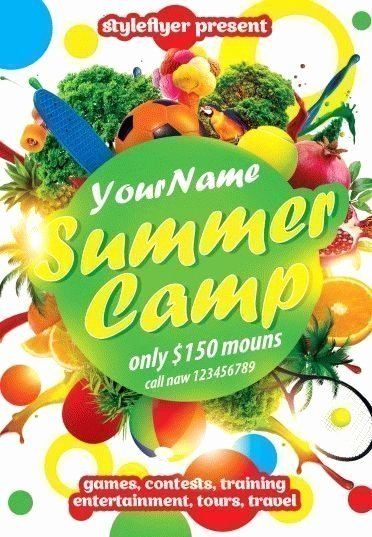 Summer Camp Flyer Template Free Luxury 15 Summer Flyers Free Download Styleflyers