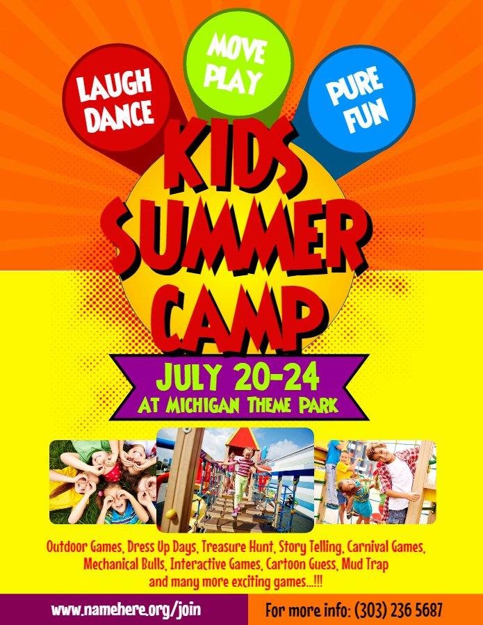 Summer Camp Flyer Template Free New Artist Corner Rani Ramli From Malaysia