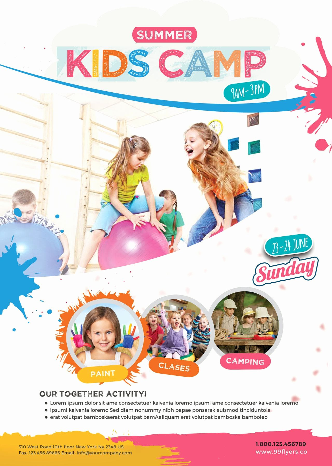 Summer Camp Flyer Template Free Unique Kids Summer Camp Free Psd Flyer Template Free Psd Flyer