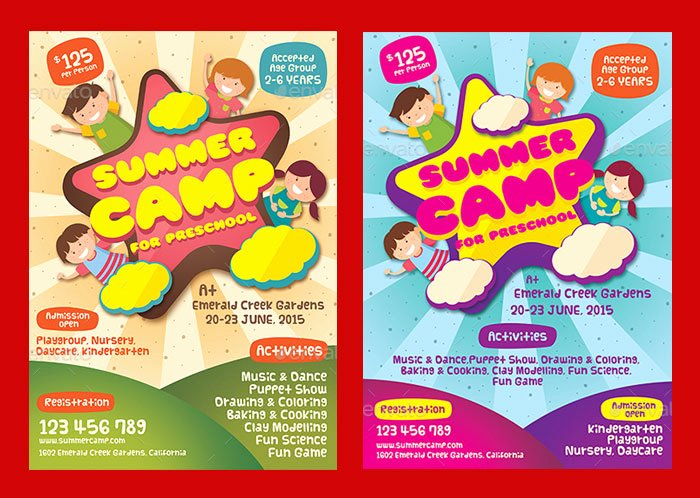 Summer Camp Flyer Templates Free Beautiful 30 Summer Camp Flyer Psd Templates Free & Premium Designyep