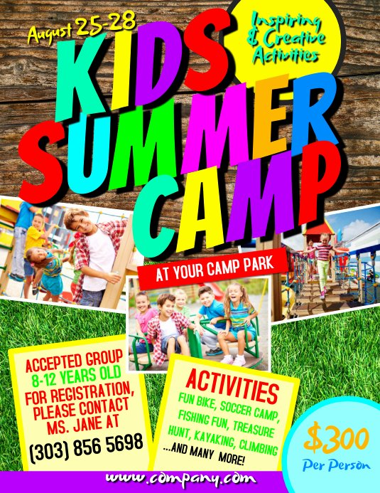 Summer Camp Flyer Templates Free Beautiful Kids Summer Camp Flyer Template