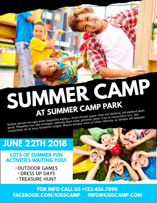 Summer Camp Flyer Templates Free Beautiful Summer Camp Flyer Template