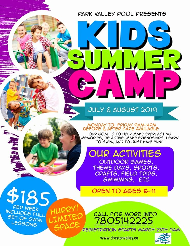 Summer Camp Flyer Templates Free Best Of Park Valley Pool