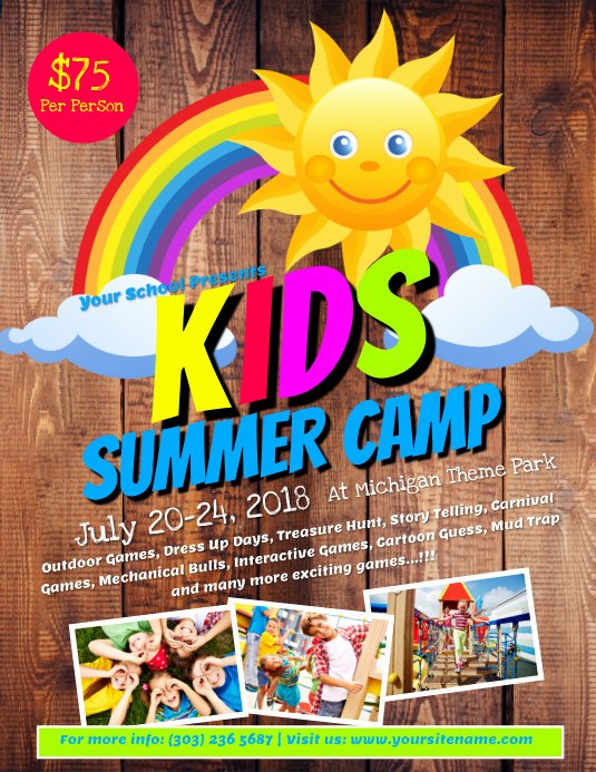 Summer Camp Flyer Templates Free Elegant Kids Summer Camp Flyer Template