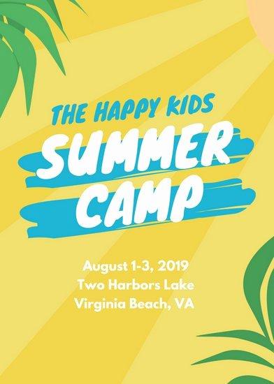 Summer Camp Flyer Templates Free Elegant Summer Camp Flyer