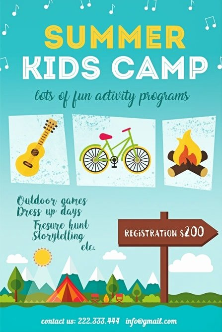 Summer Camp Flyer Templates Free Elegant Summer Kids Camp Free Flyer Template