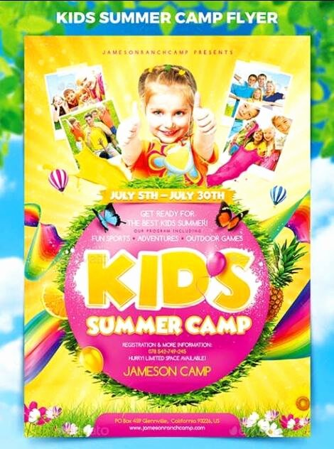 Summer Camp Flyer Templates Free Fresh Kids Summer Camp Flyer Psd Template Free